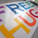 フリーハグの2代目看板を作成