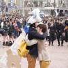 高瀬雄一郎氏の発明、どこでも雪マシーン。渋谷でフリー雪&フリーハグのコラボ開催
